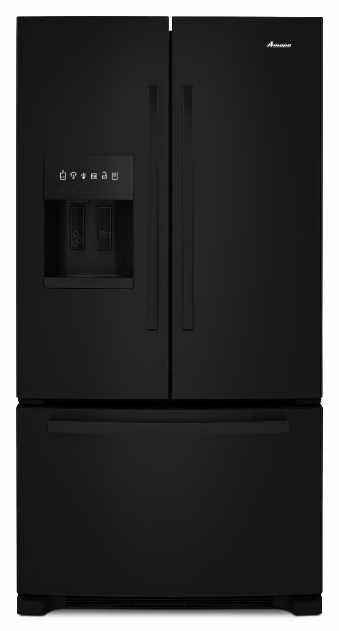 French door refrigerator amana 25 cu ft french door bottom freezer refrigerator black afi2539erb rubansaba