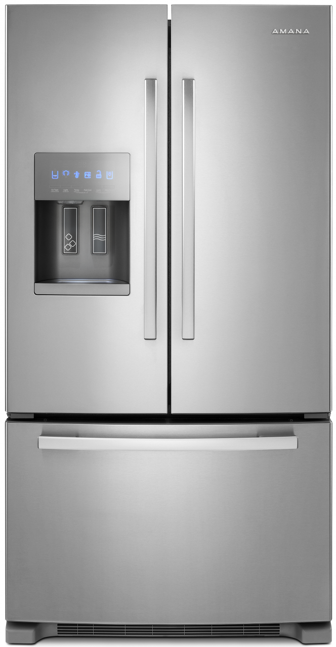 French door refrigerator amana 25 cu ft french door bottom freezer refrigerator stainless steel rubansaba