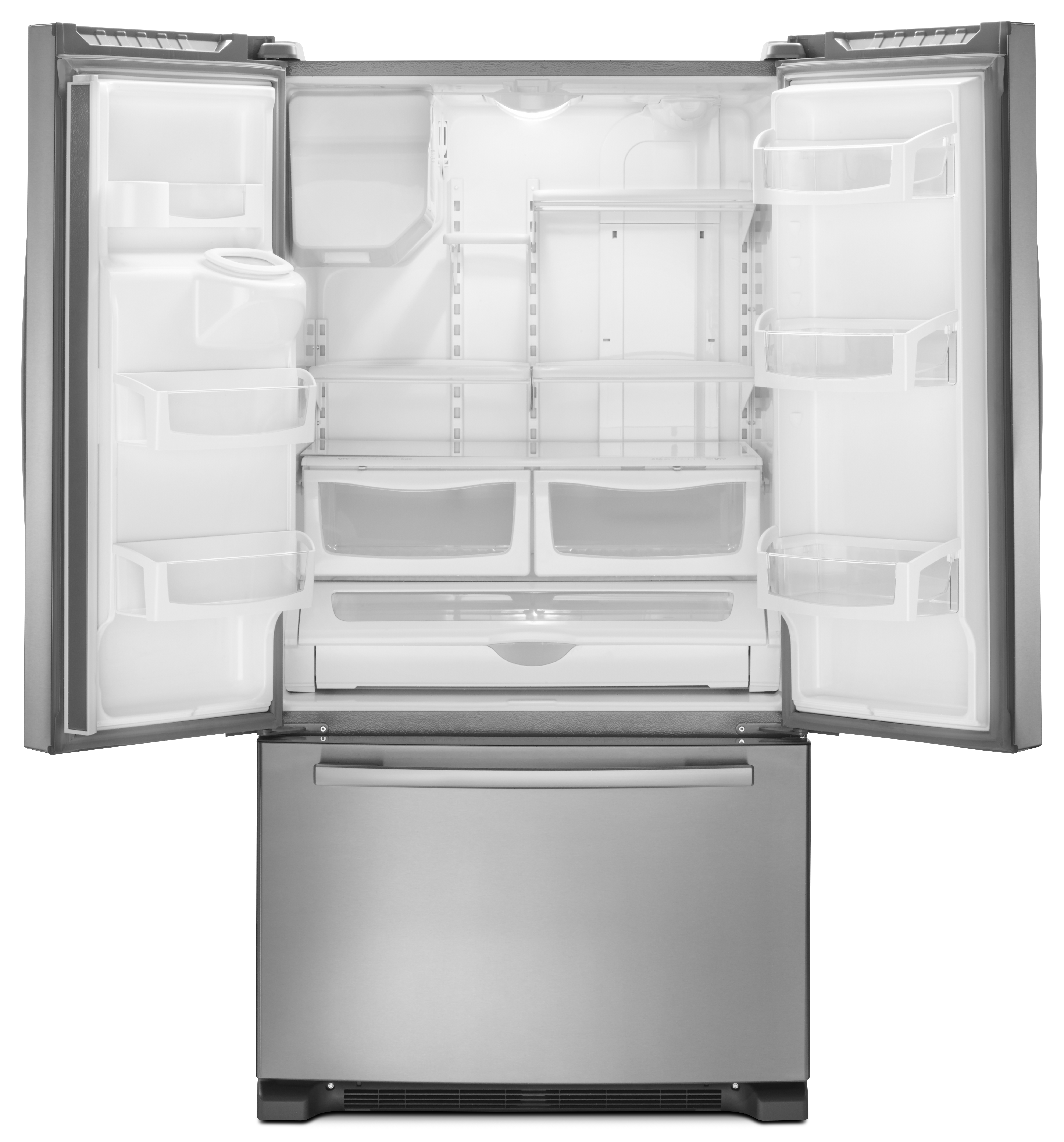 Ft. French Door Bottom Freezer Refrigerator Monochromatic Stainless Steel