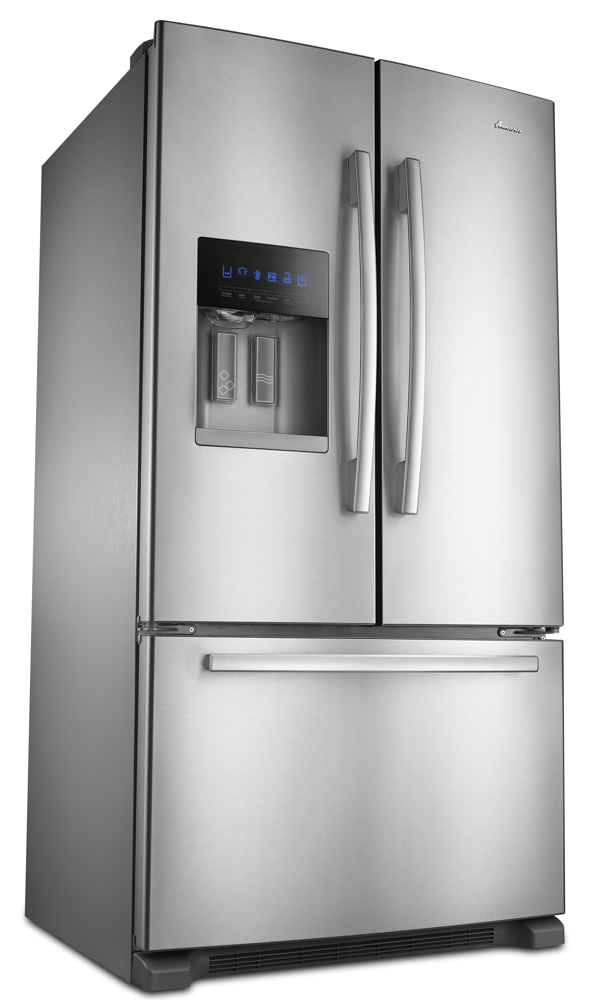 Ft. French Door Bottom Freezer Refrigerator Monochromatic Stainless Steel