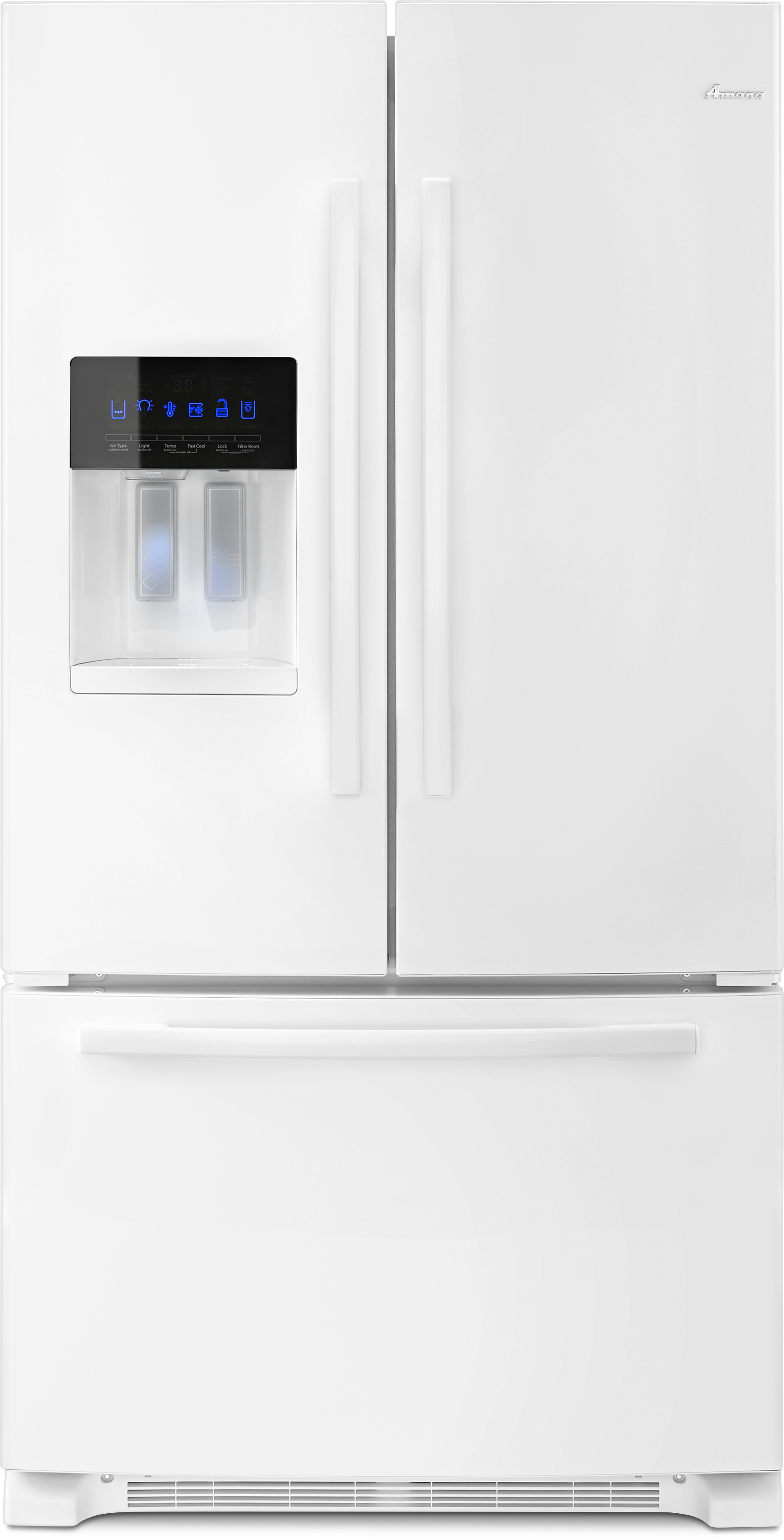 French door refrigerator ft french door bottom freezer refrigerator white afi2539erw rubansaba
