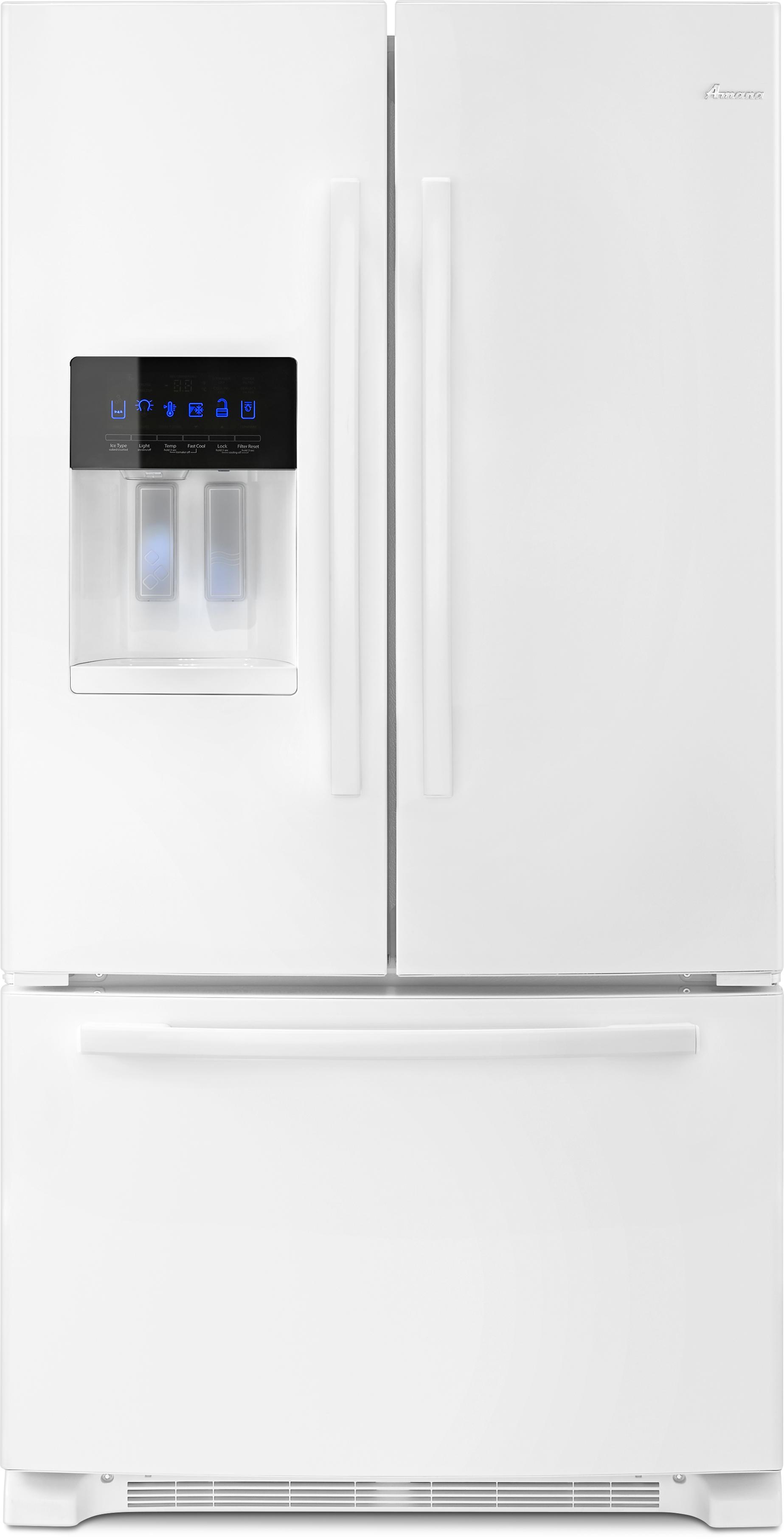 French door refrigerator ft french door bottom freezer refrigerator white afi2539erw rubansaba