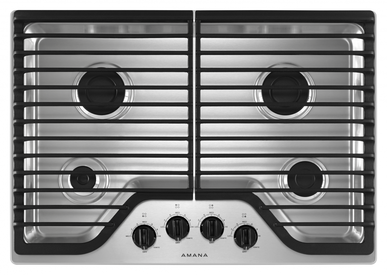 gas cooktop to amana 30 gas cooktop shop appliances mattresses furniture at the majors