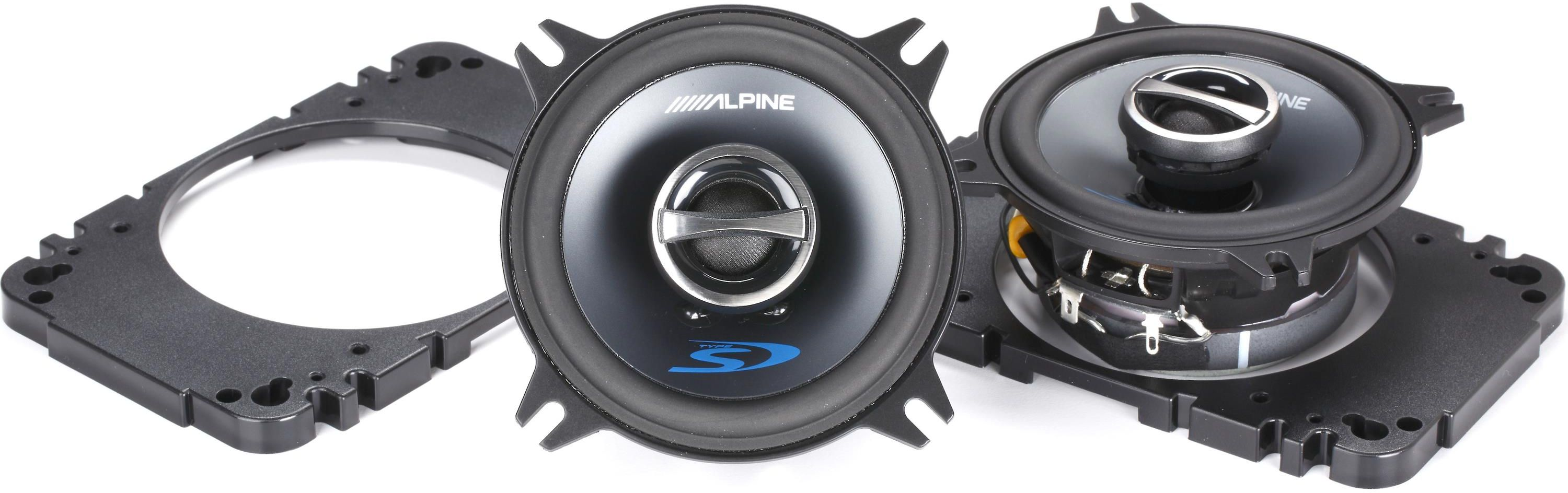Car Speakers Subs Residential Commercial Automotive Speaker Installation Alpine 4 Coaxial 2 Way Set Sps 410