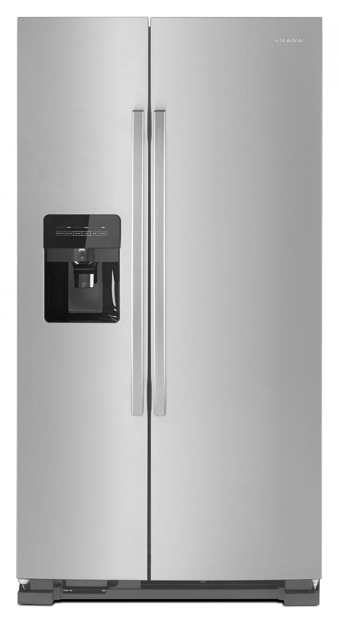 Bon Ft. Side By Side Refrigerator Black