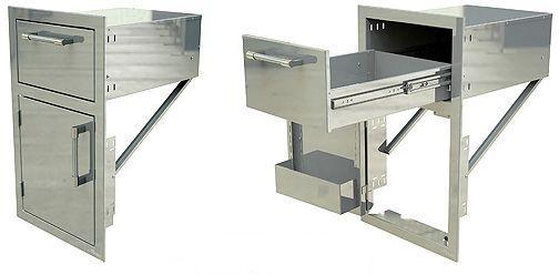 Alfresco 17 Quot Door And Drawer Combos Stainless Steel Axe