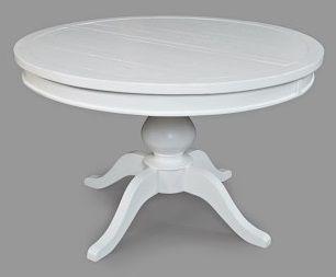 Jofran Inc. Madaket White Round to Oval Pedestal Dining ...