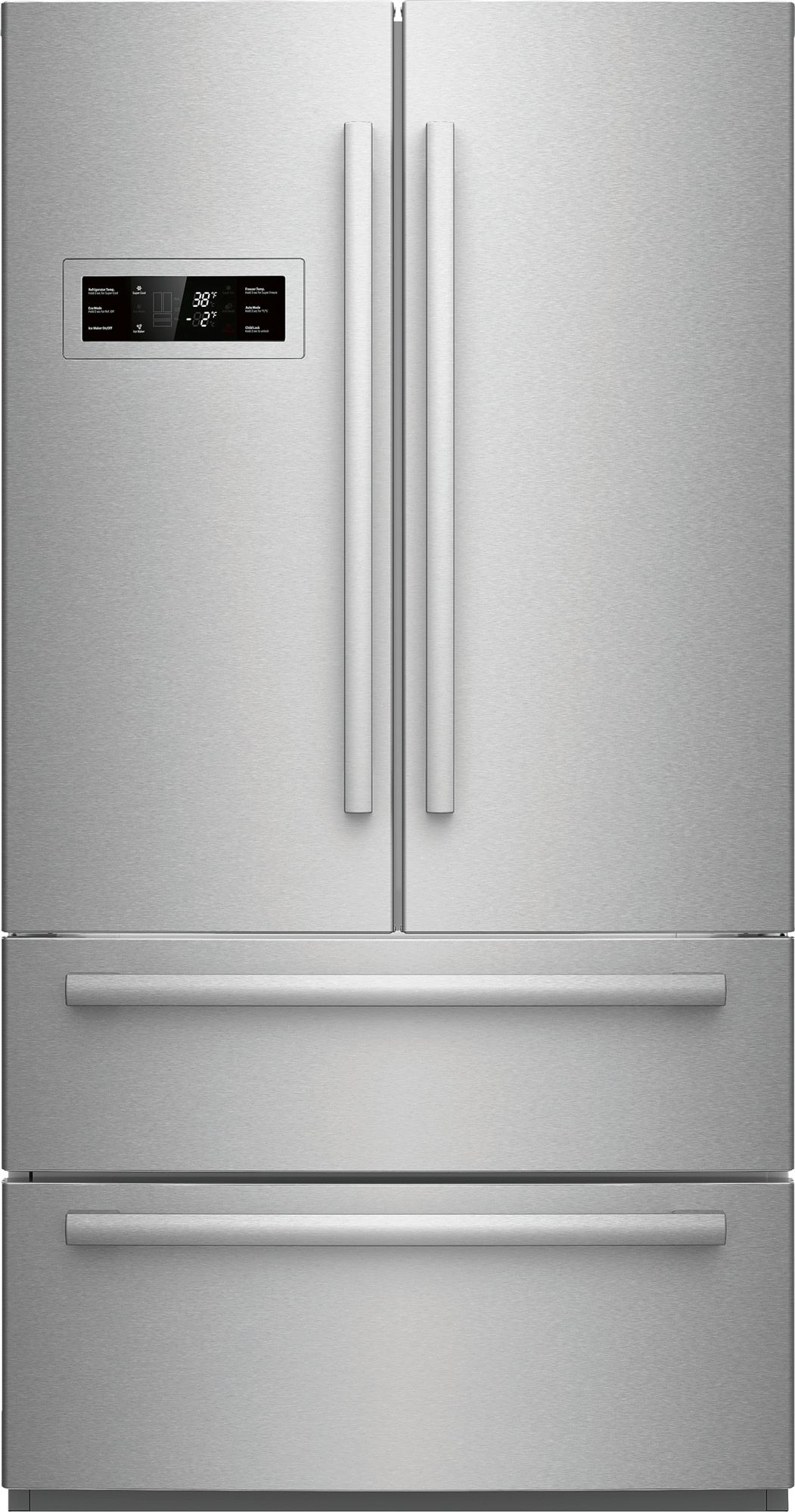 Superior Bosch 800 Series 20.7 Cu. Ft. Counter Depth French Door  Refrigerator Stainless Steel ...