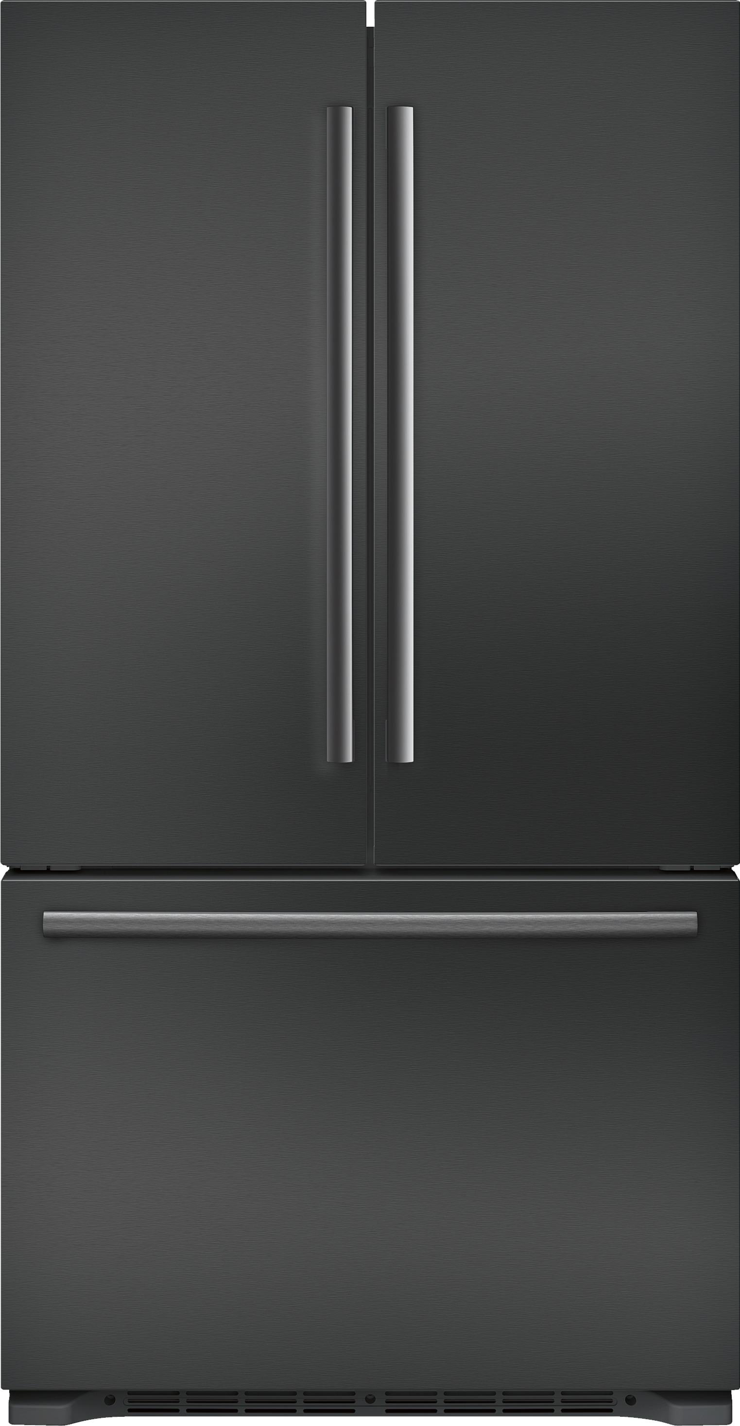 Ft. Counter Depth 3 Door Refrigerator Black Stainless