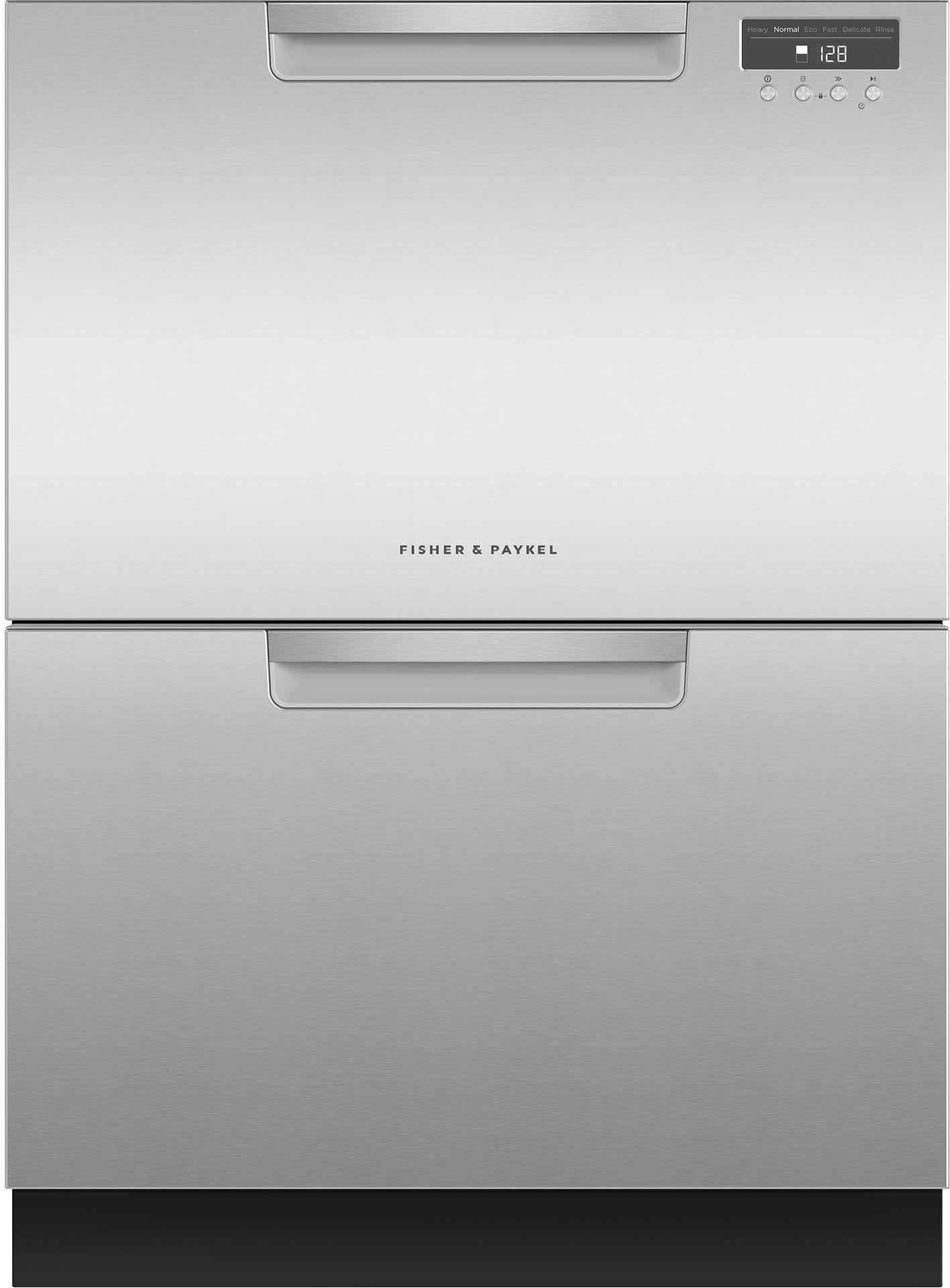 "Fisher Paykel DishDrawer™ 23.56"" Double Dishwasher-EZKleen Stainless  Steel-DD24DAX9 N"