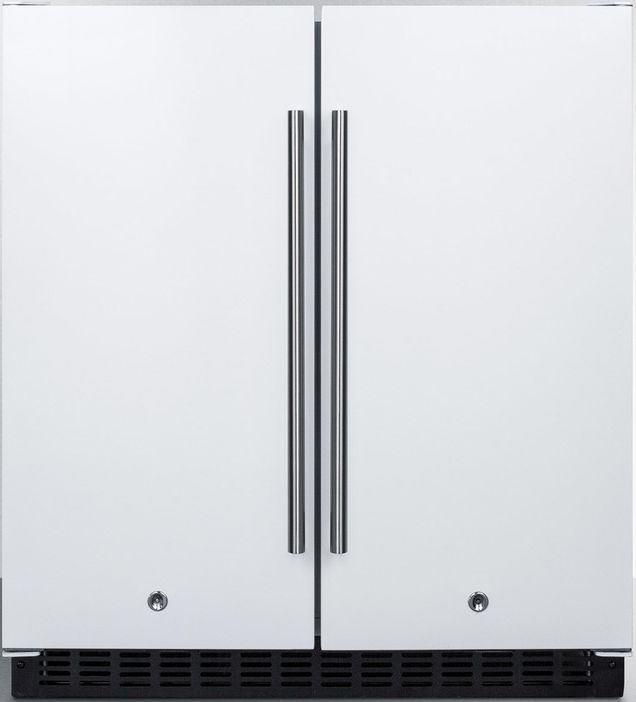 Summit 174 5 4 Cu Ft White Built In Side By Side Compact