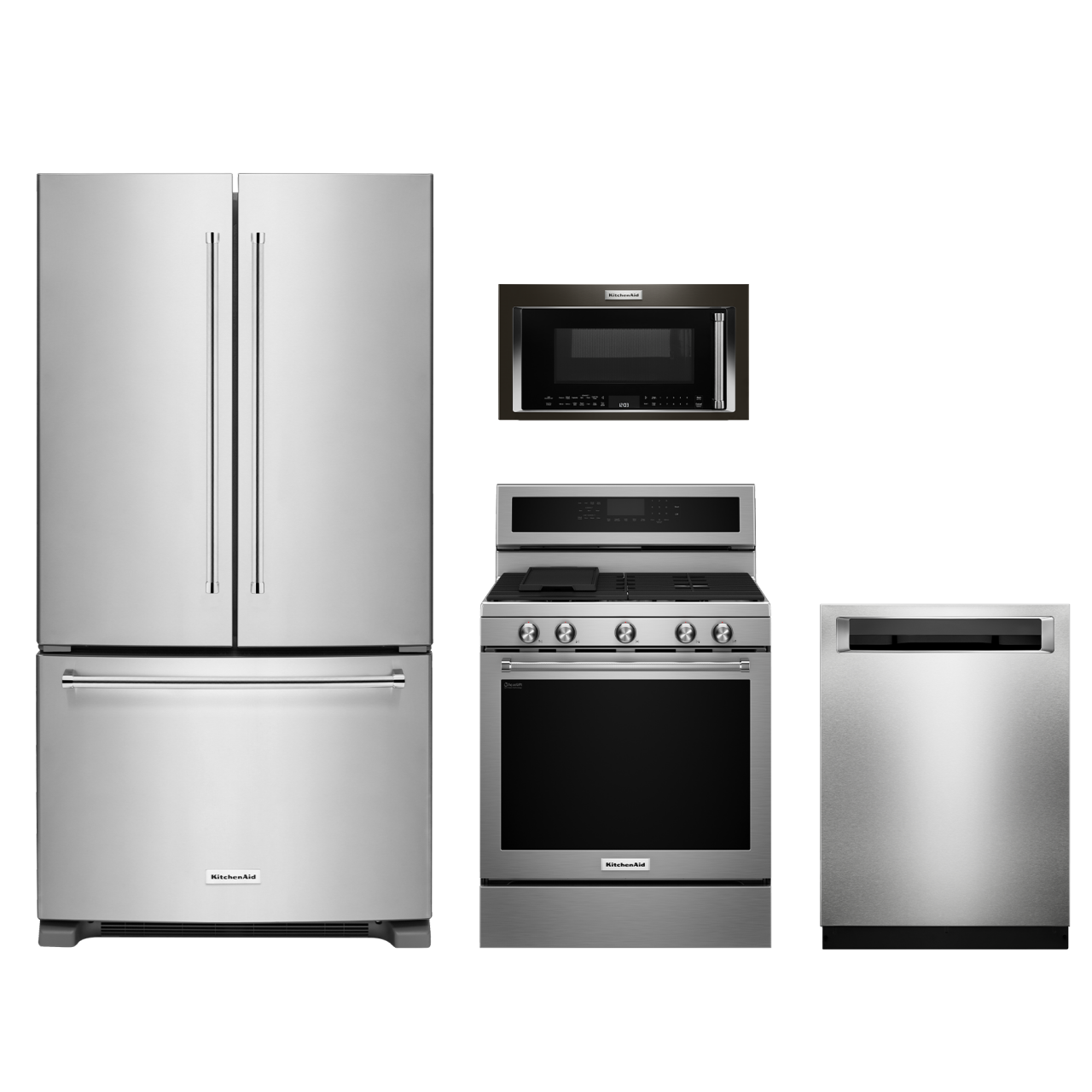 Kitchenaid 4 Piece Kitchen Appliance Package With Electric: KitchenAid® 4 Piece Kitchen Package-Stainless Steel