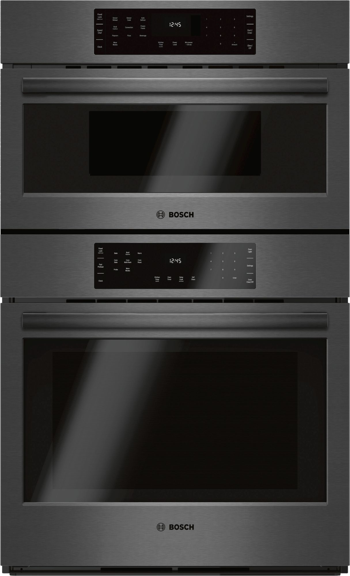 Bosch 800 Series 30 Sd Combination Oven Black Stainless Steel Hbl8742uc