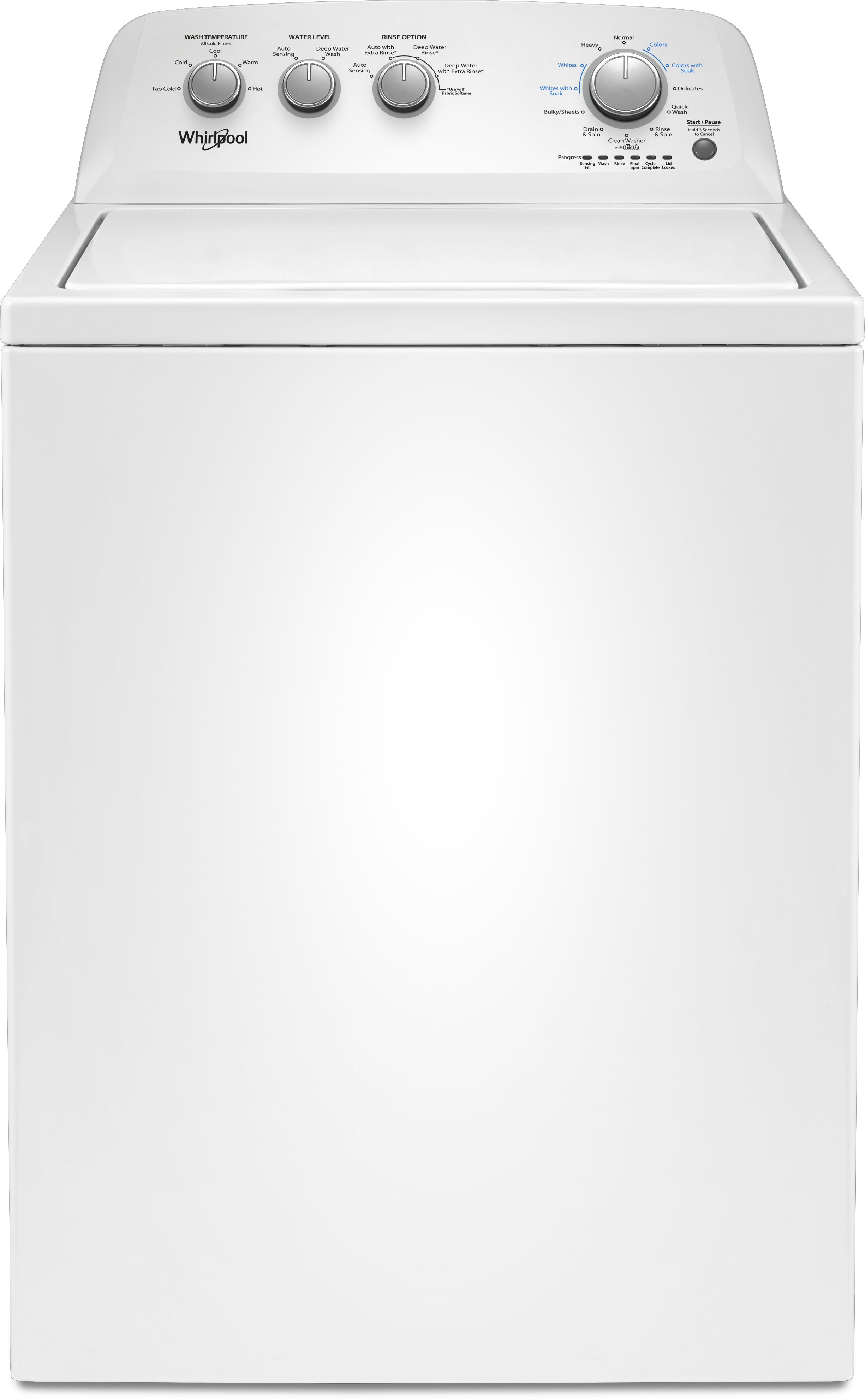Whirlpool Top Load Washer White Wtw4855hw