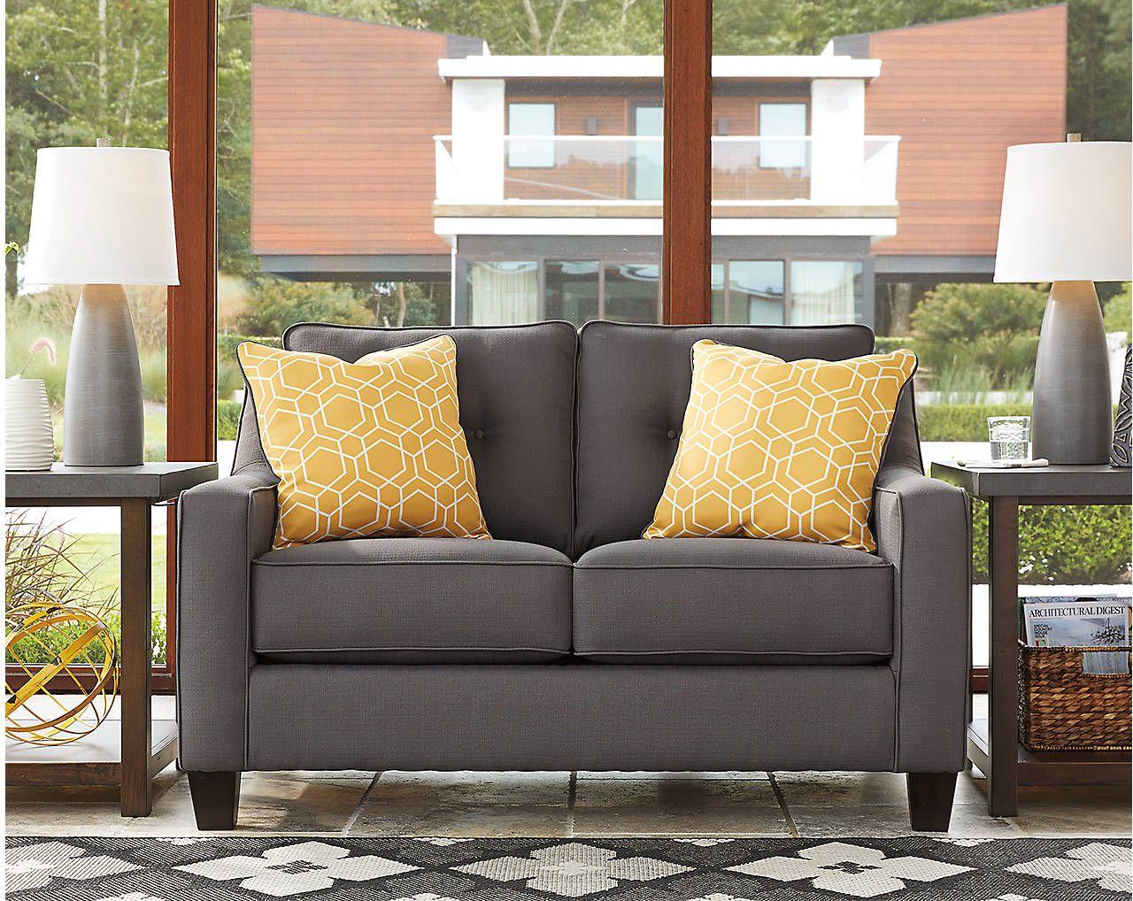 Wondrous Benchcraft Aldie Nuvella Gray Loveseat 6870235 Vans Ibusinesslaw Wood Chair Design Ideas Ibusinesslaworg