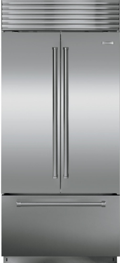 Sub Zero 21 Cu Ft Built In French Door Refrigerator Stainless