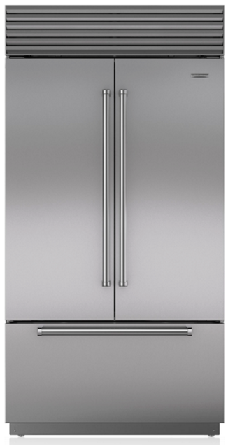 Sub Zero 247 Cu Ft Built In French Door Refrigerator Stainless