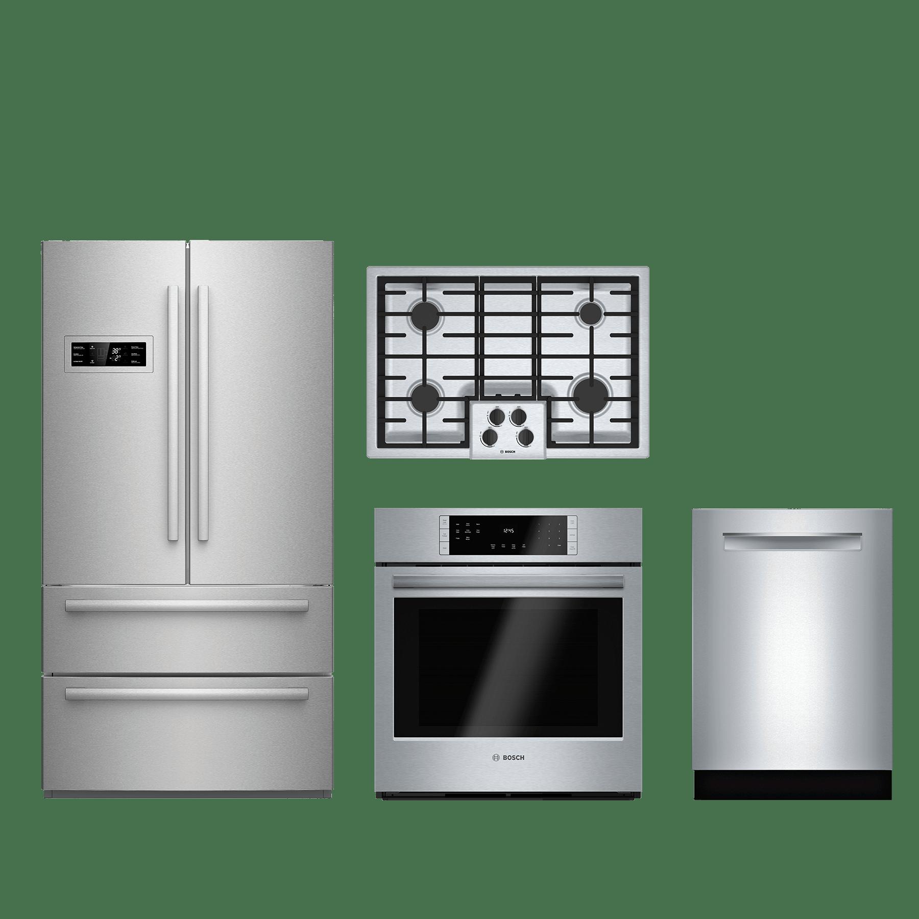 bosch 4 piece kitchen package stainless steel kitchen appliance packages  rh   donsappliances com
