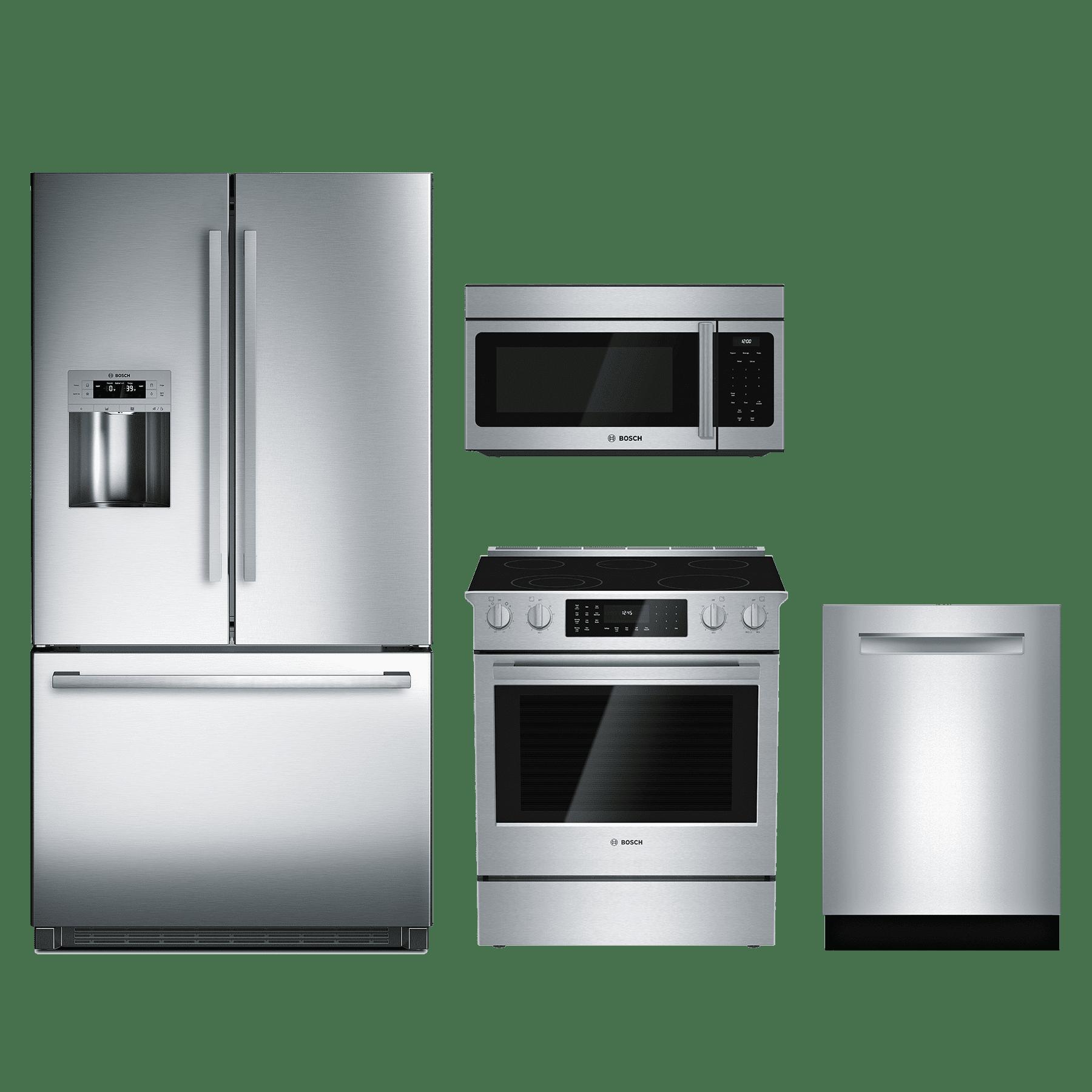 4 Piece Kitchen Appliance Package: Bosch 800 Series 4 Piece Kitchen Package-Stainless Steel