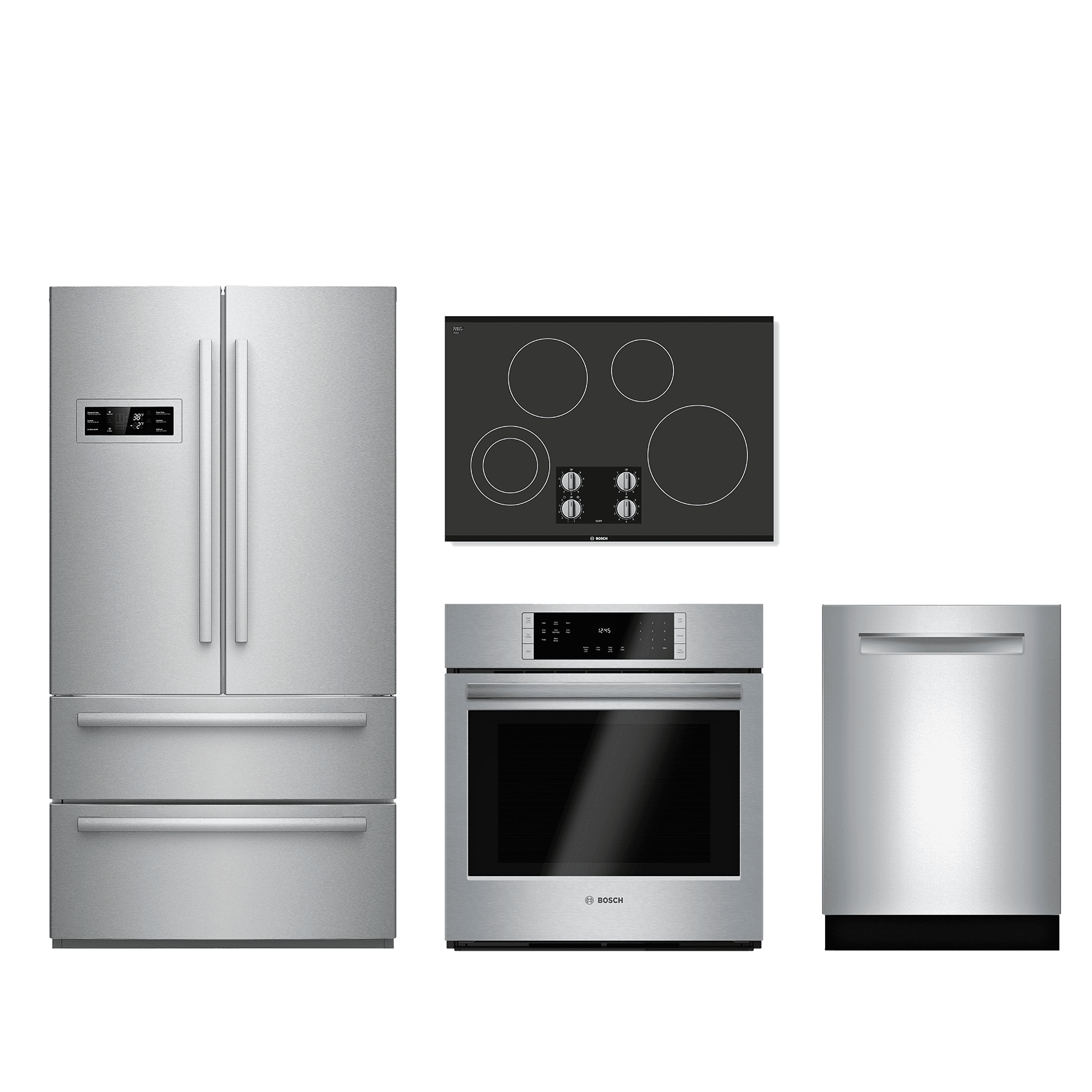 Bosch 4 Piece Kitchen Package Stainless Steel BOKITNEM5066UC