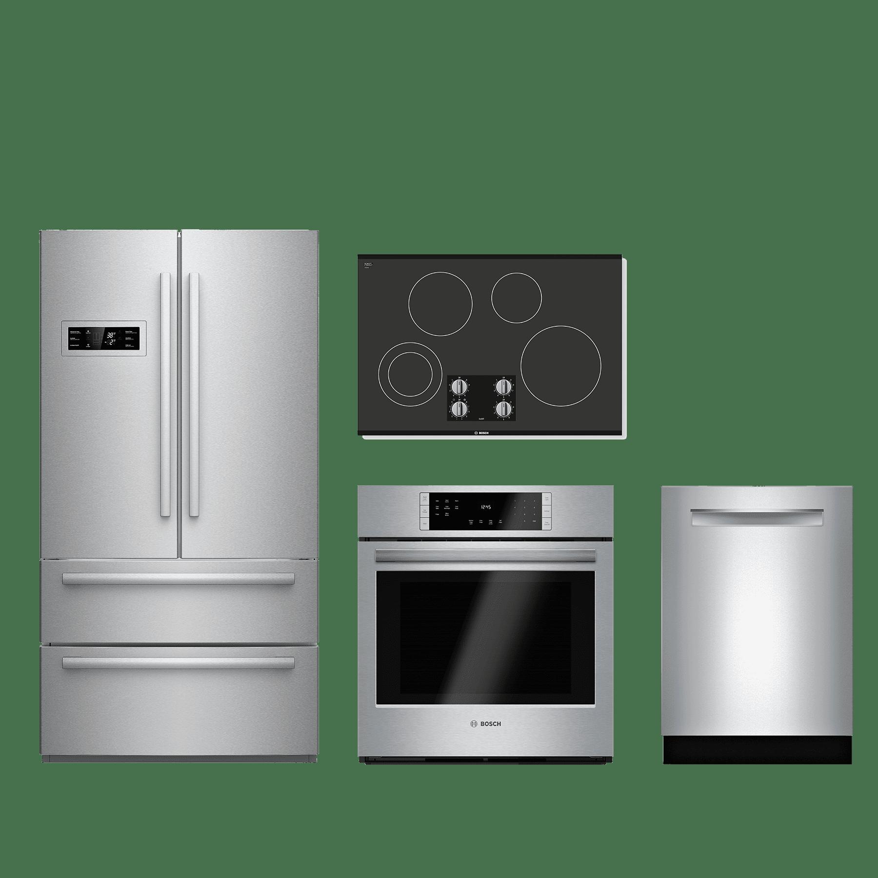 bosch 4 piece kitchen package stainless steel bokitnem5066uc kitchen appliance packages  rh   savmart net