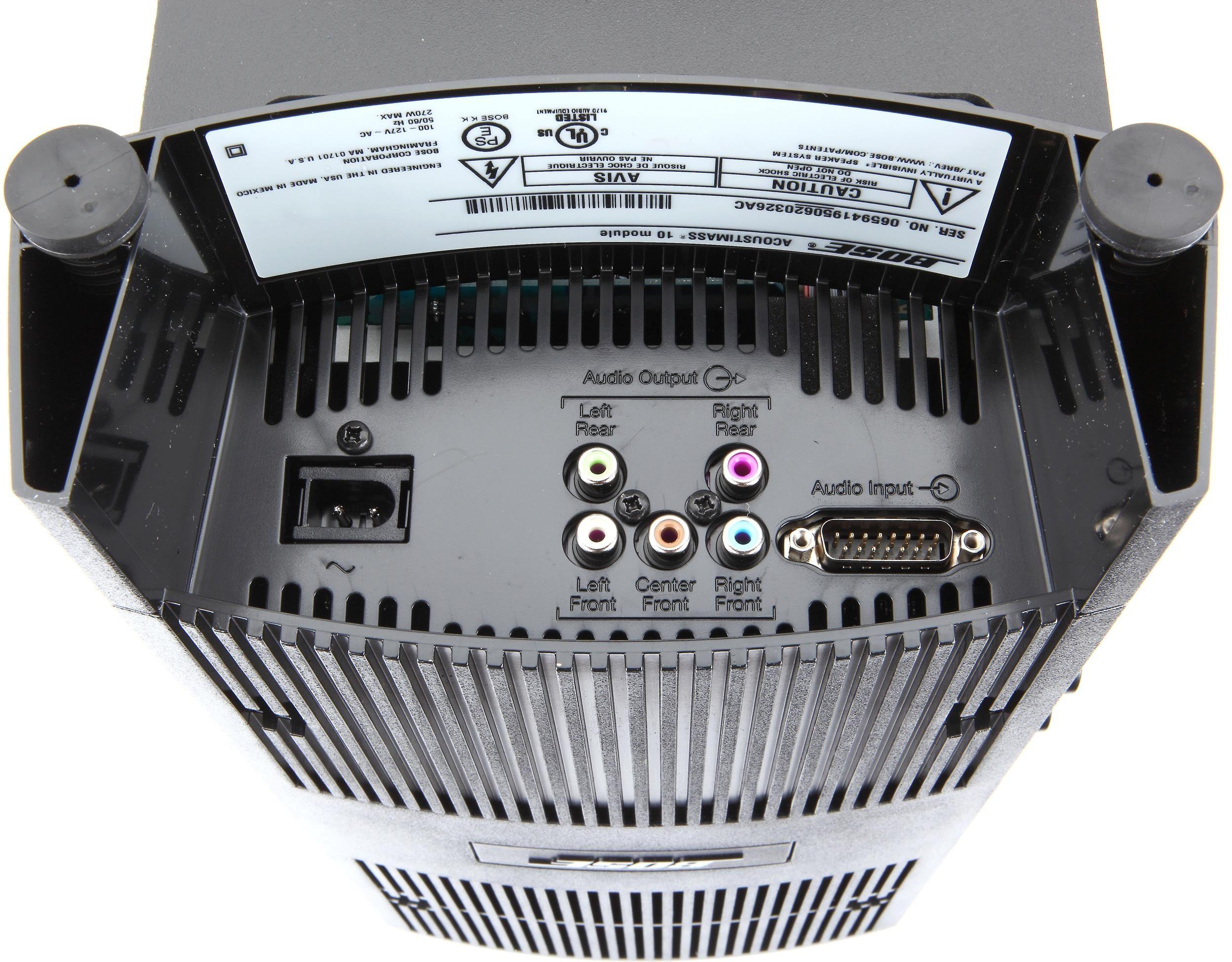 Bose Acoustimass 10 Series V Home Theater Speaker System Black 3 720962 1100
