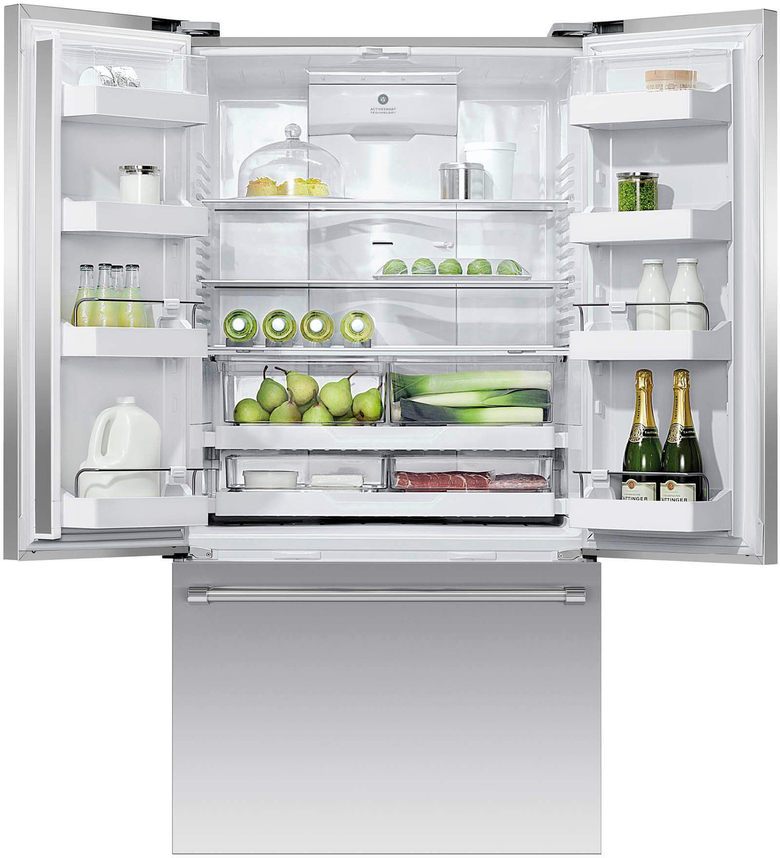 Fisher Paykel 201 Cu Ft French Door Refrigerator Brushed
