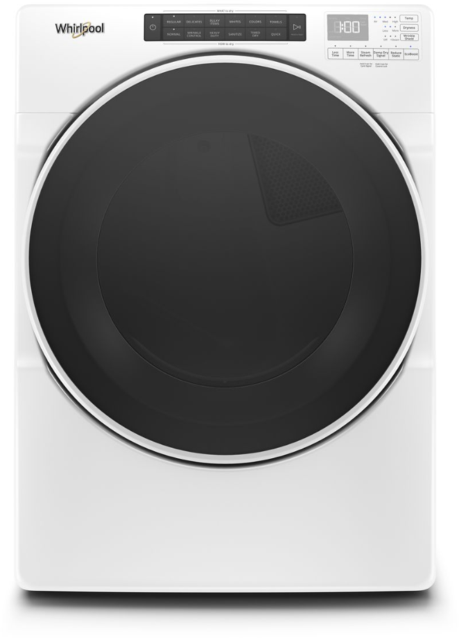 Whirlpool 174 7 4 Cu Ft White Front Load Gas Dryer