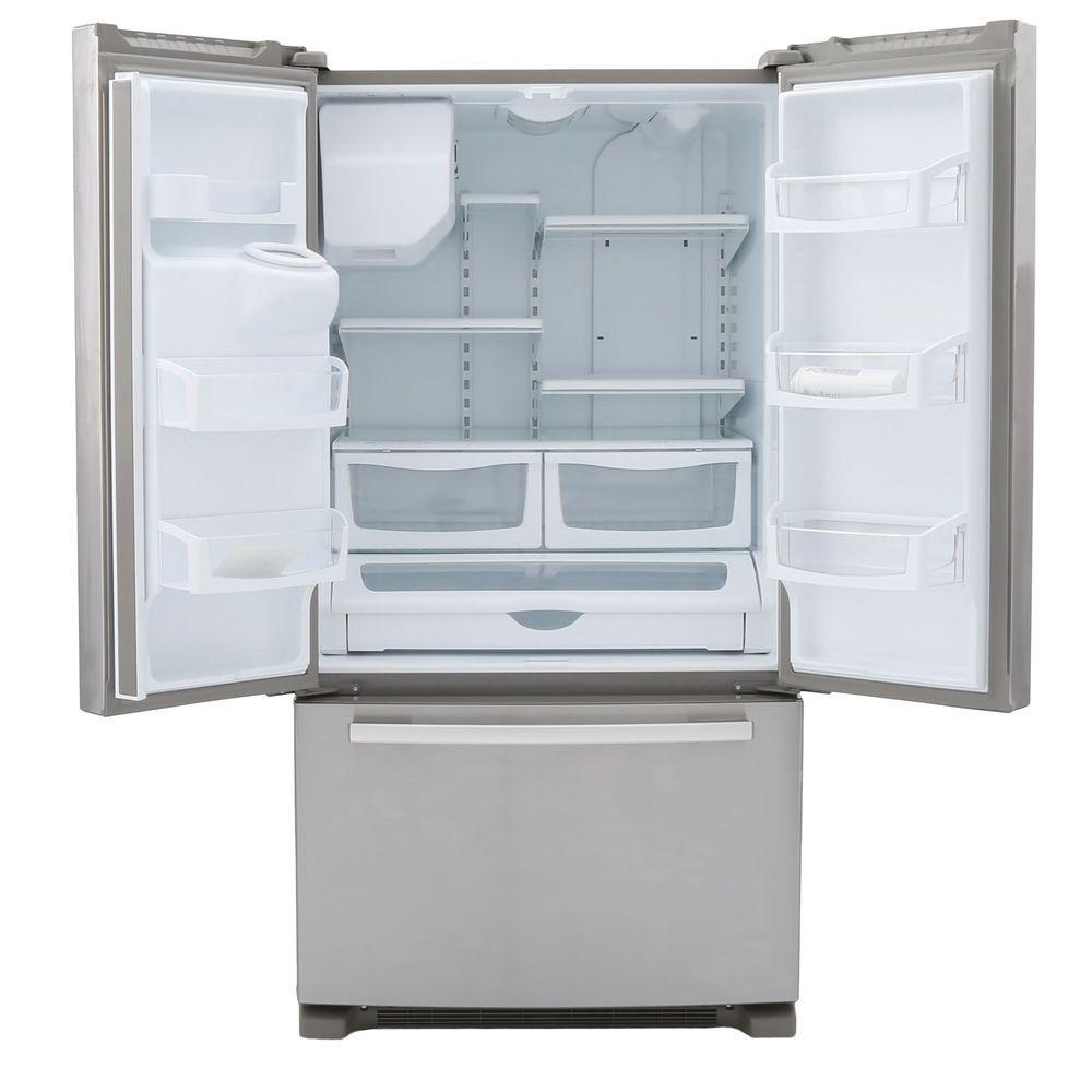 Ft french door bottom freezer refrigerator monochromatic stainless steel