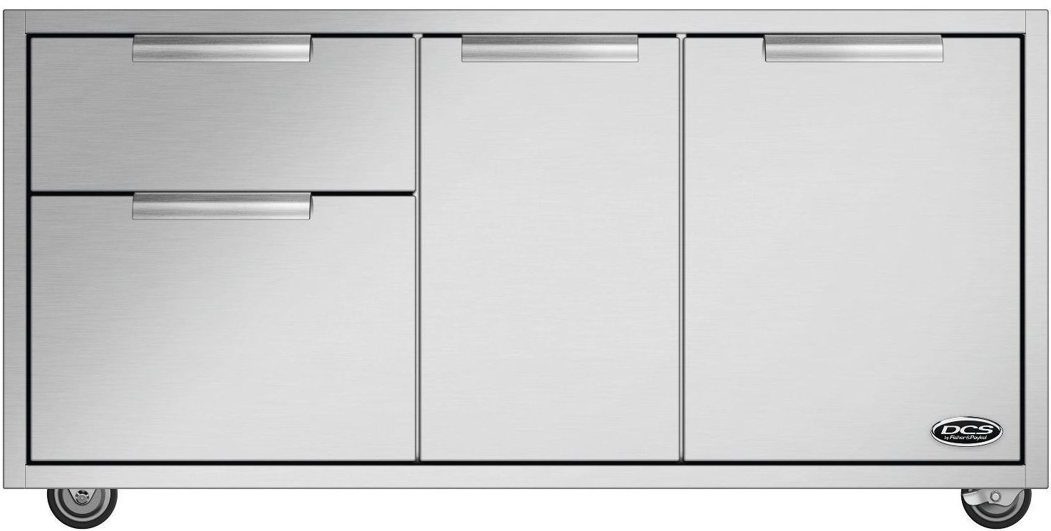 Dcs Outdoor Cooking Cad Grill Cart Brushed Stainless Steel Cad1 48
