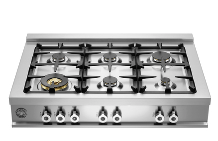 Bertazzoni Professional Series 36 Gas Cooktop Stainless Steel Cb36600x
