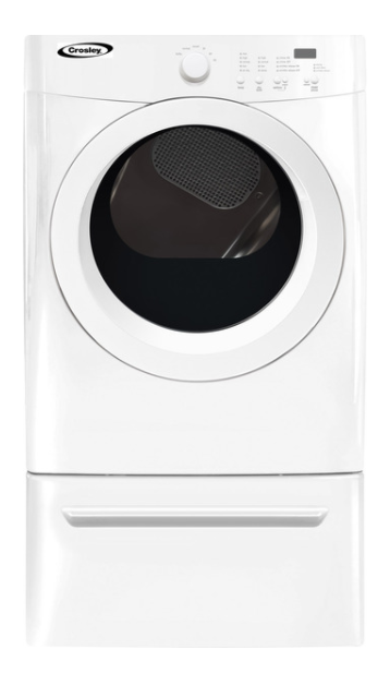 Crosley Front Load Electric Dryer White Cde7300rw