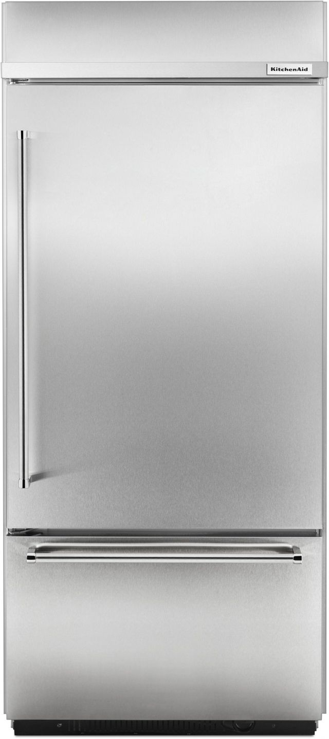 Kitchenaid 174 20 86 Cu Ft Stainless Steel Built In Bottom