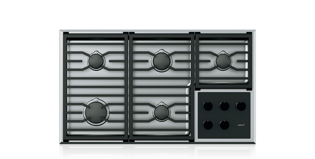 Wolf 36 Transitional Gas Cooktop Stainless Steel Cg365t S