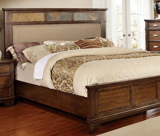 Furniture Of America Alcazar Upholstered Bed Queen Cm7985q