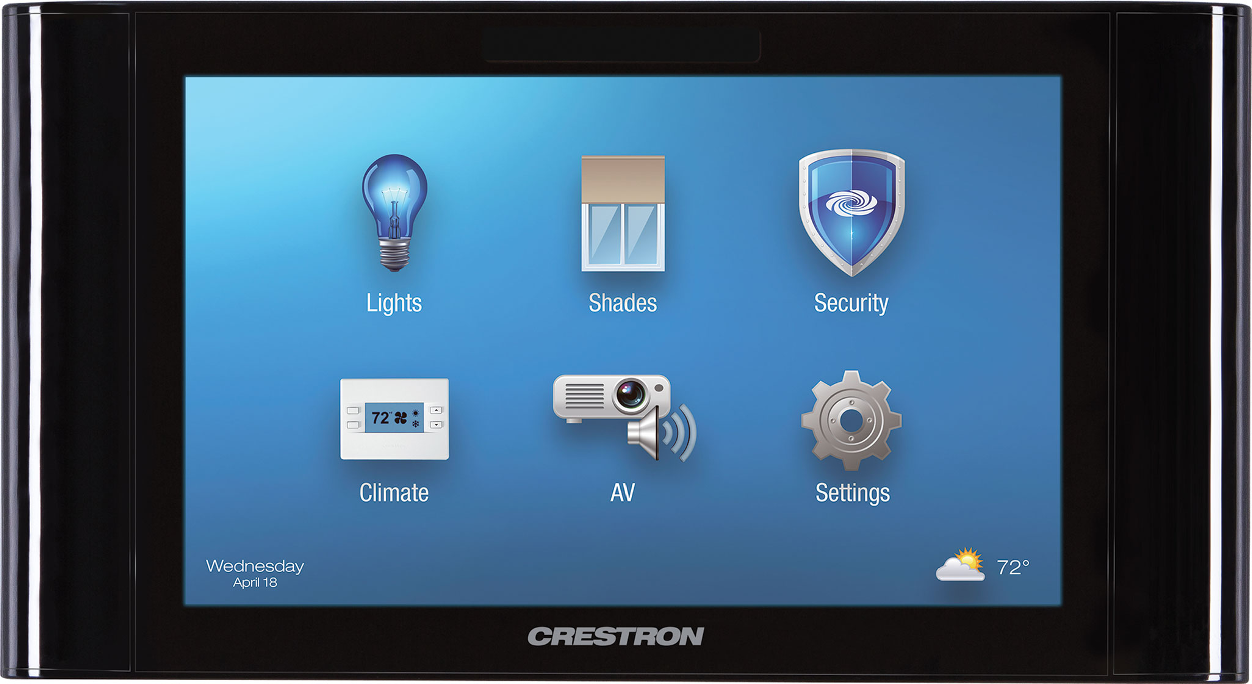 Crestron Lighting Relay Panel Best Resume Cls C6 Wiring Diagram 7 Touch Screen Control System Black Smooth Tscw 730 B S