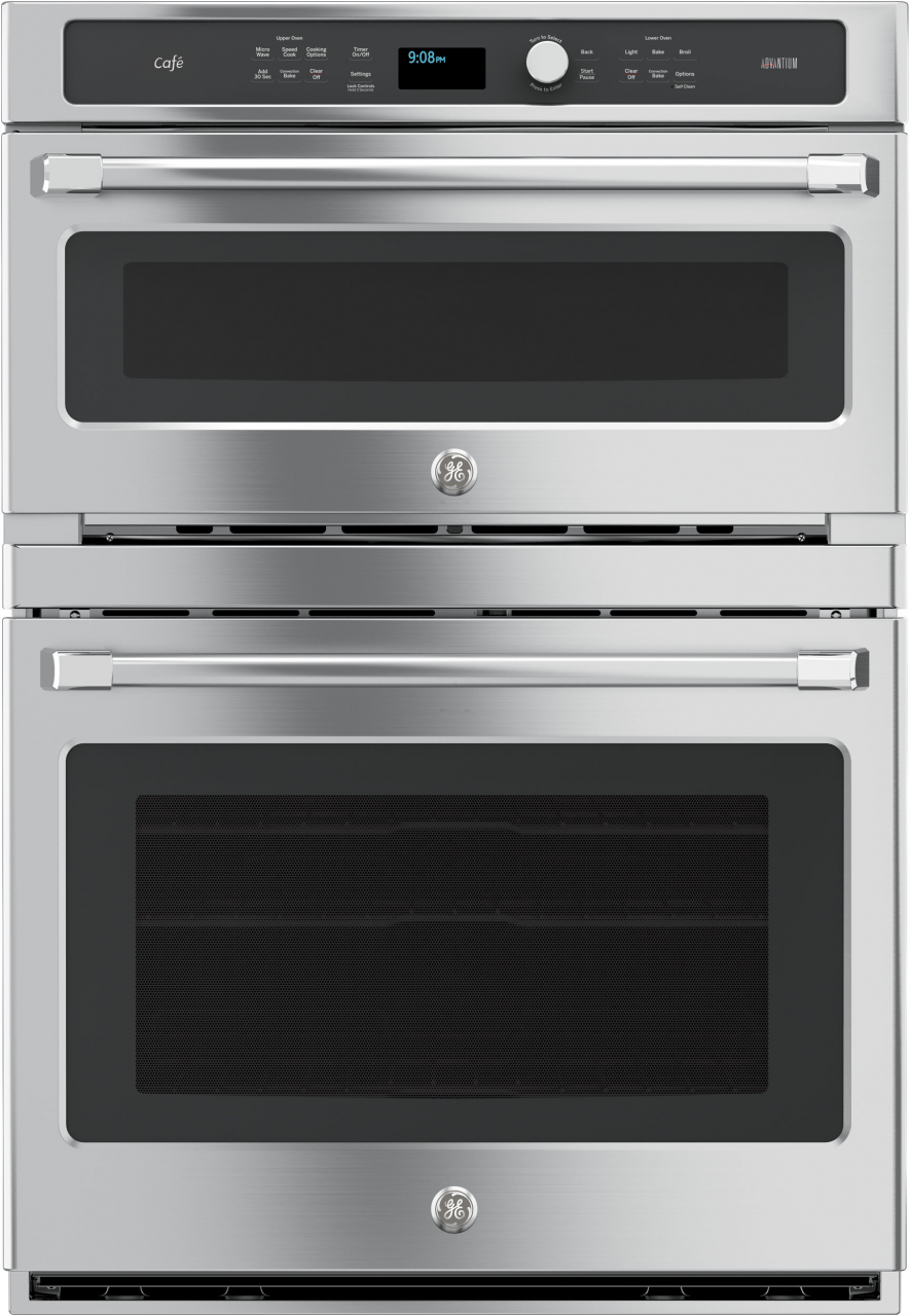 Ge Cafe Series 30 Electric Built In Double Oven Stainless Steel Ct9800shss