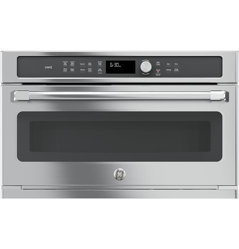 Ge Cafe Series Built In Microwave Convection Oven Stainless Steel Cwb7030slss
