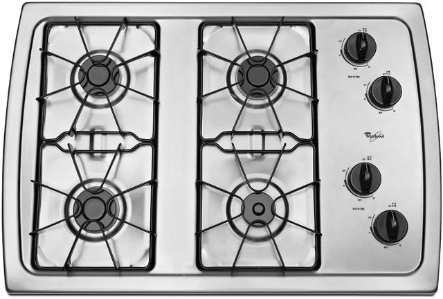 Whirlpool 174 30 Quot Gas Cooktop Stainless Steel W3cg3014xs Home