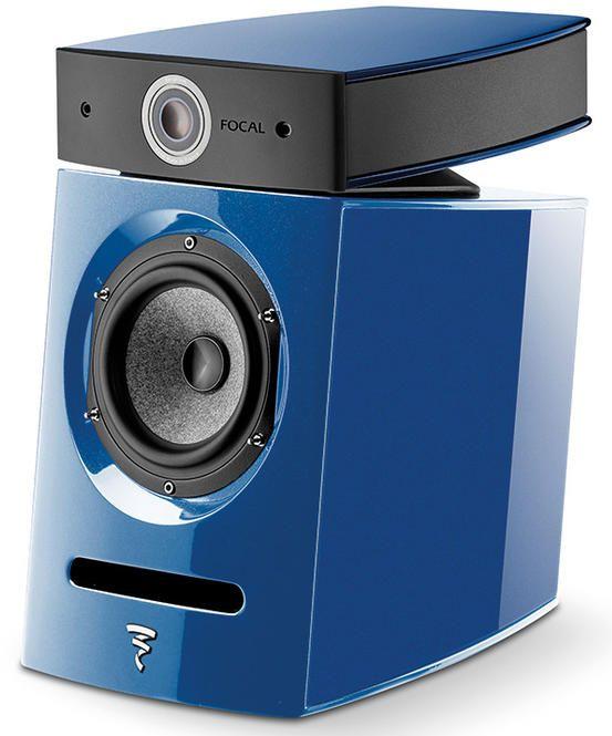 Focal® 2-Way Compact Bookshelf Loudspeakers-Metallic Blue