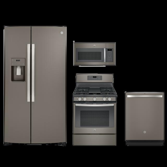 GE® 4 Piece Kitchen Package-Slate-GEKITGDT665SMNES
