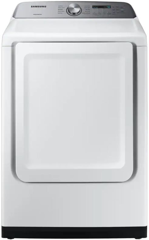 Samsung 7 4 Cu Ft White Front Load Gas Dryer Dvg50r5200w