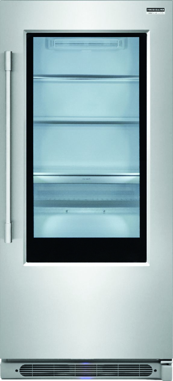 Ft. Glass Door All Refrigerator Stainless Steel