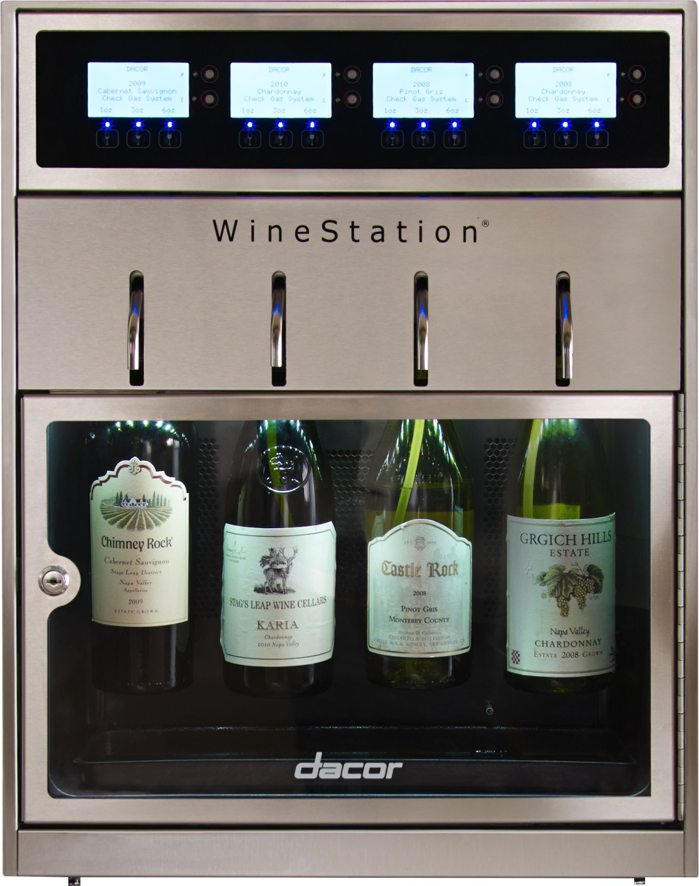 Dacor® Heritage WineStation® Wine Cooler Stainless Steel And Glass DYWS4