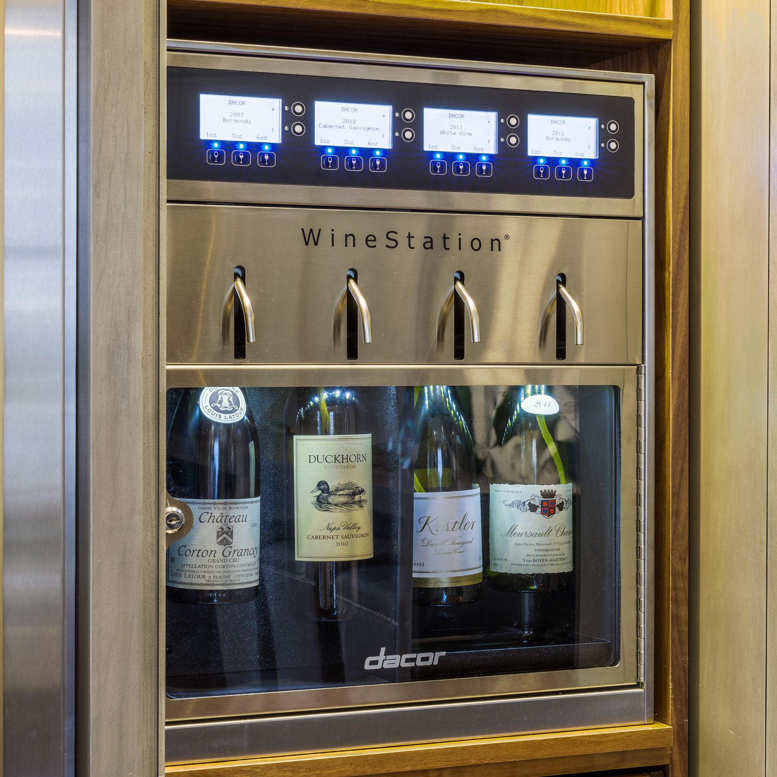 Dacor Heritage Discovery Winestation Wine Cooler Stainless Steel And Glass Dyws4