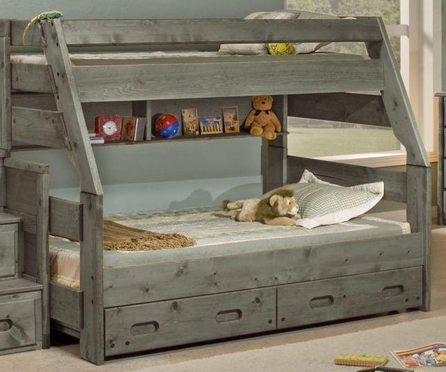 Trendwood Bunkhouse High Sierra Twin Full Bunk Bed 4720rg