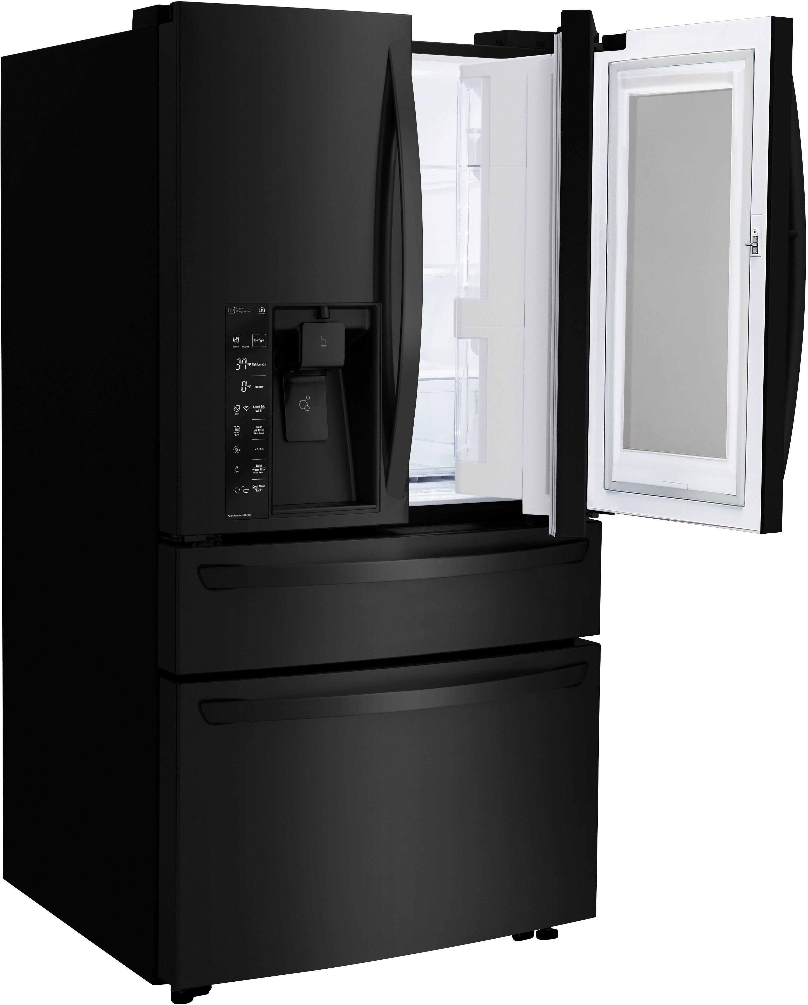 LG 22 5 Cu Ft  Matte Black Stainless Steel Counter Depth