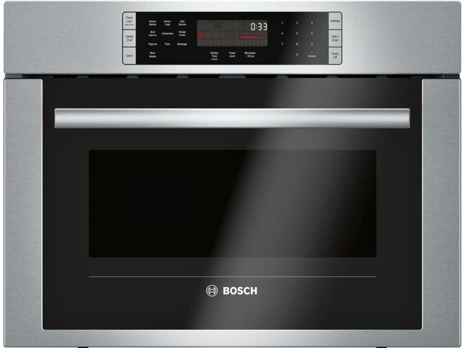 Bosch 500 Series 24 Built In Convection Microwave Oven Stainless Steel Hmc54151uc