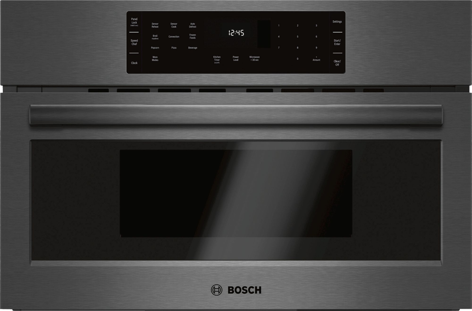 Bosch 800 Series Built In Microwave Oven Black Stainless Steel Hmc80242uc