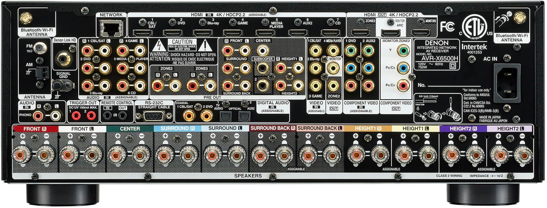 Denon® 11 2 Channel 4K A/V Receiver-AVR-X6500H | Good Vibes Sound